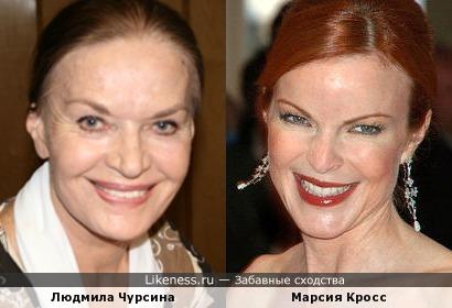 Актрисы Людмила Чурсина и Марсия Кросс