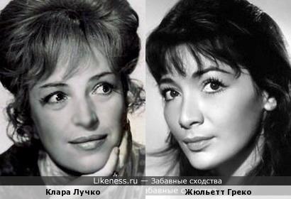 Актрисы Клара Лучко и Жюльетт Греко