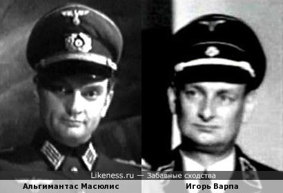 Актеры Альгимантас Масюлис и Игорь Варпа