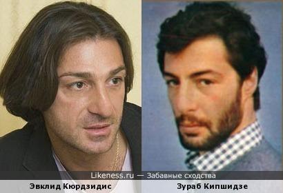 Актеры Эвклид Кюрдзидис и Зураб Кипшидзе