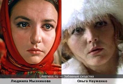 Актрисы Людмила Мызникова и Ольга Науменко