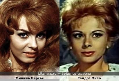 Актрисы Мишель Мерсье и Сандра Мило