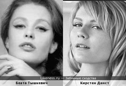 Беата Тышкевич и Кирстен Данст