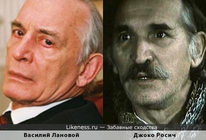 Актеры Василий Лановой и Джоко Росич