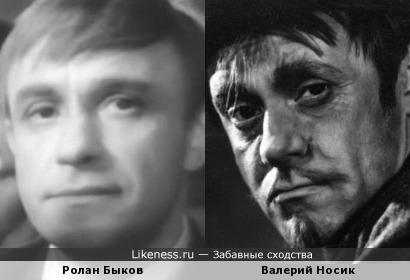 Актиеры Ролан Быков и Валерий Носик
