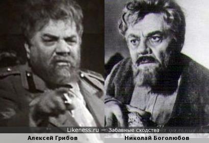 Актеры Алексей Грибов и Николай Боголюбов