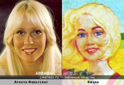 """Агнета Фельтског и девушка с упаковки сыра """"Виола"""""""