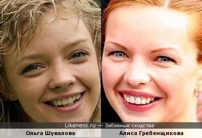 Актрисы Ольга Шувалова и Алиса Гребенщикова