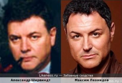 Александр Ширвиндт и Максим Леонидов