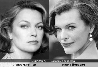 Актрисы Луиза Флетчер и Милла Йовович