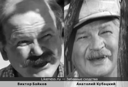 Актеры Виктор Байков и Анатолий Кубацкий