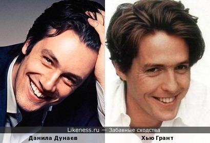 Актеры Данила Дунаев и Хью Грант