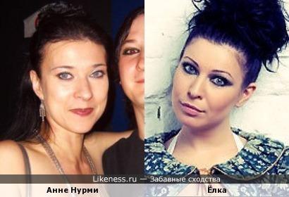Анне Нурми и Ёлка