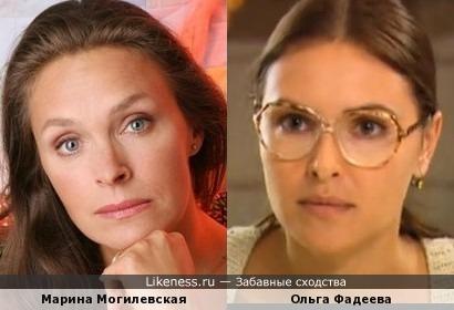 Марина Могилевская и Ольга Фадеева
