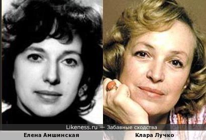 Елена Амшинская и Клара Лучко