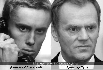 Даниэль Обрыхский и Дональд Туск