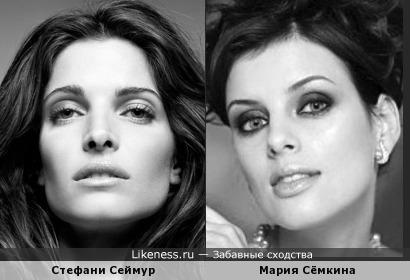Стефани Сеймур и Мария Сёмкина