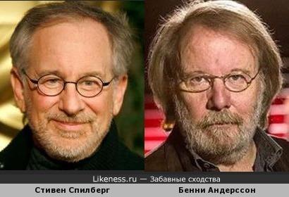 Стивен Спилберг и Бенни Андерссон