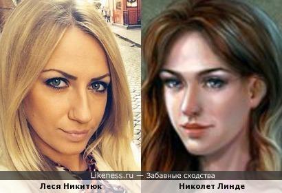 Леся Никитюк и Николет Линде