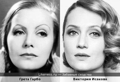 Грета Гарбо и Виктория Исакова