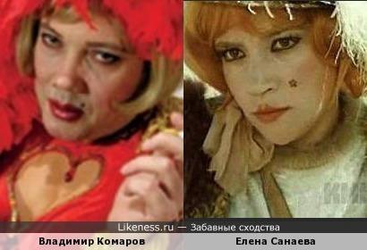 Владимир Комаров и Елена Санаева