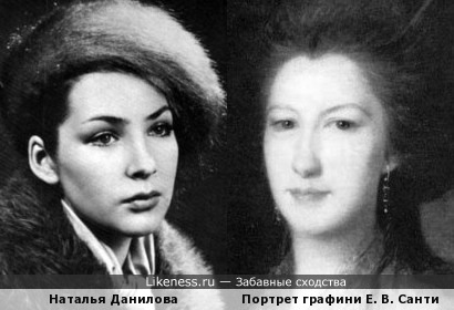 Наталья Данилова и Портрет графини Е. В. Санти