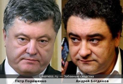 Петр Порошенко и Андрей Богданов