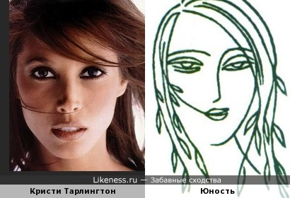 "Кристи Тарлингтон и символ (логотип, лого) журнала ""Юность"""