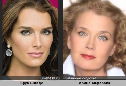 Брук Шилдс и Ирина Алфёрова