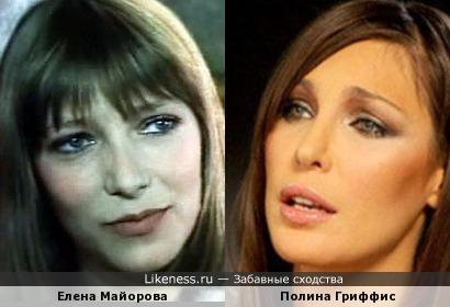 Елена Майорова и Полина Гриффис