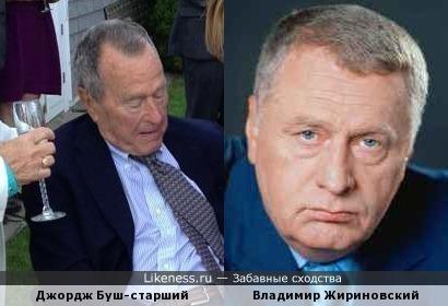 Буш-старший при определенном ракурсе похож на Жириновского