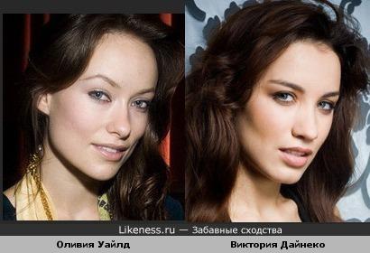 Виктория Дайнеко похожа на Оливию Уайлд