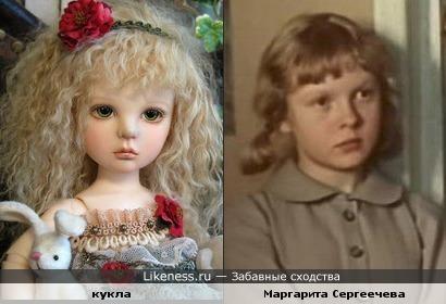 Кукла похожа на Маргариту Сергеечеву