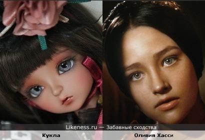Кукла похожа на Оливию Хасси