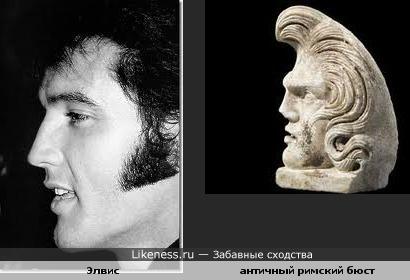 Элвис пожож на античного римского бога.