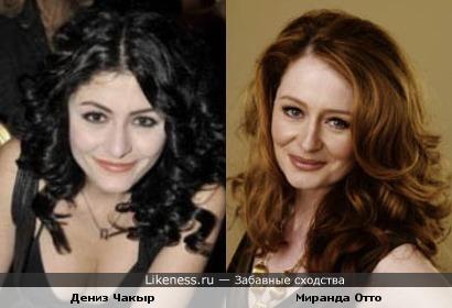 Брюнетка Шах-султан и рыжая Миранда-Эовин похожи как сестры