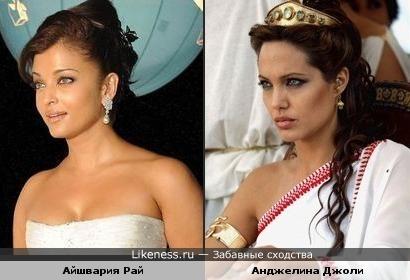 Айшвария Рай и Анджелина Джоли (фото1)