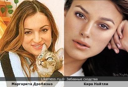 Маргарита Дробязко и Кира Найтли