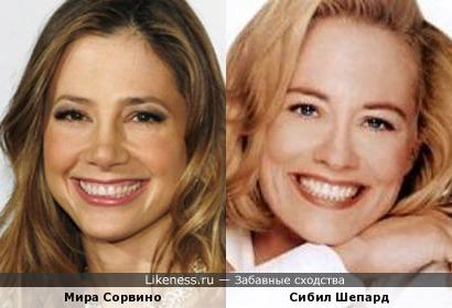 Мира Сорвино и Сибил Шепард