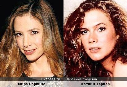 Мира Сорвино и Кэтлин Тернер