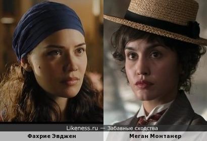 """Фахрие Эвджен (""""Королек-птичка певчая"""") и Меган Монтанер (""""Гранд-отель"""")"""