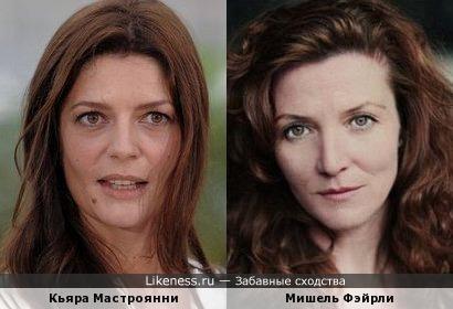 Кьяра Мастроянни и Мишель Фэйрли