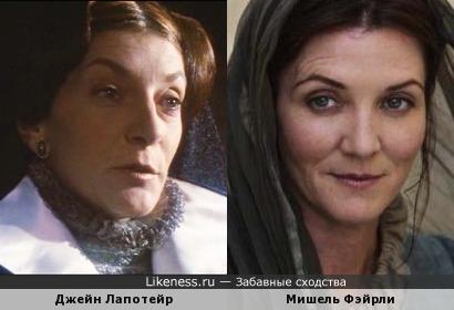"""Джейн Лапотейр (Мария I Тюдор, """"Леди Джейн"""", 1986) и Мишель Фейрли (""""Игра престолов"""")"""