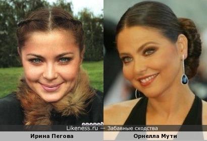 Ирина Пегова и Орнелла Мути
