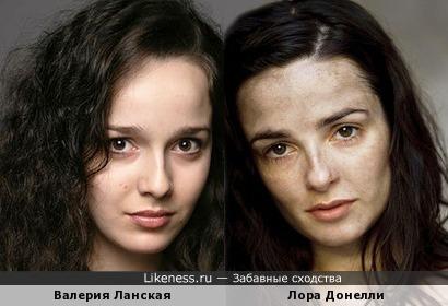 Валерия Ланская и Лора Донелли