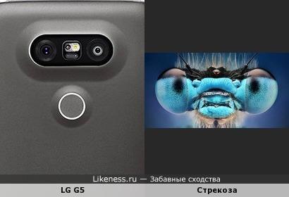 LG G5 похож на стрекозу