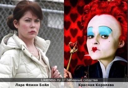 Лара Флинн Бойл и Красная Королева