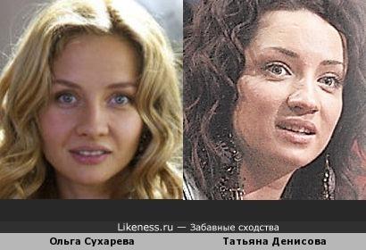 Ольга Сухарева и Татьяна Денисова