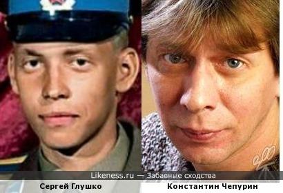 """Сергей Глушко (""""Тарзан"""") и Константин Чепурин"""