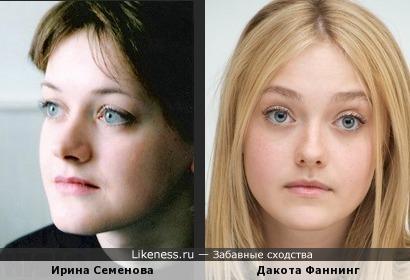 Ирина Семенова и Дакота Фаннинг